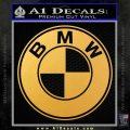 BMW Official Emblem Decal Sticker Gold Vinyl 120x120