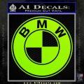 BMW Official Emblem Decal Sticker Lime Green Vinyl 120x120