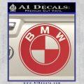 BMW Official Emblem Decal Sticker Red 120x120