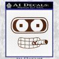 Bender Face Cigar Decal Sticker Futurama BROWN Vinyl 120x120