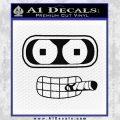 Bender Face Cigar Decal Sticker Futurama Black Vinyl 120x120
