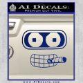 Bender Face Cigar Decal Sticker Futurama Blue Vinyl 120x120