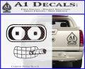 Bender Face Cigar Decal Sticker Futurama Carbon FIber Black Vinyl 120x97