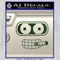 Bender Face Cigar Decal Sticker Futurama Dark Green Vinyl 120x120