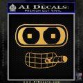 Bender Face Cigar Decal Sticker Futurama Gold Vinyl 120x120