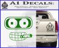 Bender Face Cigar Decal Sticker Futurama Green Vinyl Logo 120x97