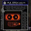 Bender Face Cigar Decal Sticker Futurama Orange Emblem 120x120