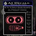 Bender Face Cigar Decal Sticker Futurama Pink Emblem 120x120