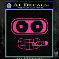 Bender Face Cigar Decal Sticker Futurama Pink Hot Vinyl 120x120