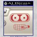 Bender Face Cigar Decal Sticker Futurama Red 120x120
