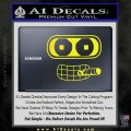 Bender Face Cigar Decal Sticker Futurama Yellow Laptop 120x120