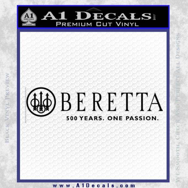 Beretta 500 Years Decal Sticker Black Vinyl