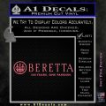 Beretta 500 Years Decal Sticker Pink Emblem 120x120