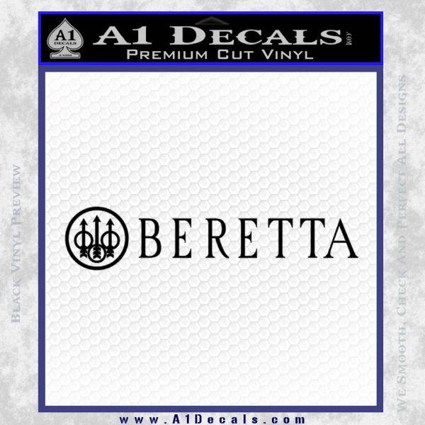 Beretta Decal Sticker W Black Vinyl