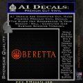 Beretta Decal Sticker W Orange Emblem 120x120