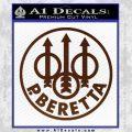 Beretta Retro CR Decal Sticker BROWN Vinyl 120x120