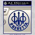 Beretta Retro CR Decal Sticker Blue Vinyl 120x120