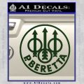Beretta Retro CR Decal Sticker Dark Green Vinyl 120x120