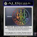 Beretta Retro CR Decal Sticker Glitter Sparkle 120x120