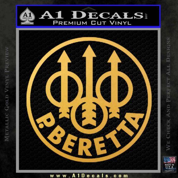 Beretta Retro CR Decal Sticker Gold Vinyl