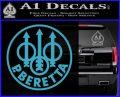 Beretta Retro CR Decal Sticker Light Blue Vinyl 120x97