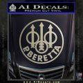 Beretta Retro CR Decal Sticker Metallic Silver Emblem 120x120