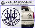 Beretta Retro CR Decal Sticker PurpleEmblem Logo 120x97