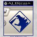 Beware Of Godzilla Decal Sticker Blue Vinyl 120x120