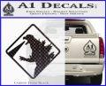 Beware Of Godzilla Decal Sticker Carbon FIber Black Vinyl 120x97