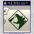 Beware Of Godzilla Decal Sticker Dark Green Vinyl 120x120