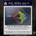 Beware Of Godzilla Decal Sticker Glitter Sparkle 120x120