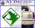 Beware Of Godzilla Decal Sticker Green Vinyl Logo 120x97