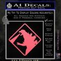 Beware Of Godzilla Decal Sticker Pink Emblem 120x120