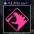 Beware Of Godzilla Decal Sticker Pink Hot Vinyl 120x120