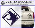 Beware Of Godzilla Decal Sticker PurpleEmblem Logo 120x97