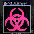 Biohazard Decal Sticker Standard D2 Pink Hot Vinyl 120x120
