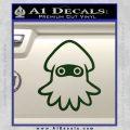 Blooper Decal Sticker Super Mario Dark Green Vinyl 120x120