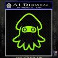 Blooper Decal Sticker Super Mario Lime Green Vinyl 120x120
