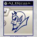 Blue Devils Duke Decal Sticker Blue Vinyl 120x120