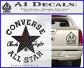 Chuck Taylor Decal Sticker Converse All Stars Carbon FIber Black Vinyl 120x97