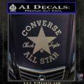 Chuck Taylor Decal Sticker Converse All Stars Carbon FIber Chrome Vinyl 120x120