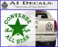 Chuck Taylor Decal Sticker Converse All Stars Green Vinyl Logo 120x97