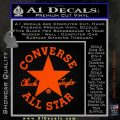 Chuck Taylor Decal Sticker Converse All Stars Orange Emblem 120x120