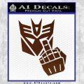 Decepticon Flipping Off Decal Sticker BROWN Vinyl 120x120