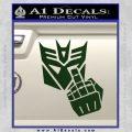 Decepticon Flipping Off Decal Sticker Dark Green Vinyl 120x120