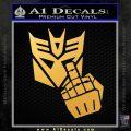 Decepticon Flipping Off Decal Sticker Gold Vinyl 120x120