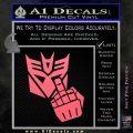 Decepticon Flipping Off Decal Sticker Pink Emblem 120x120