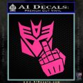 Decepticon Flipping Off Decal Sticker Pink Hot Vinyl 120x120