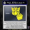 Decepticon Flipping Off Decal Sticker Yellow Laptop 120x120