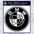 Hello Kitty BMW Decal Sticker Black Vinyl 120x120